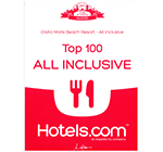 Hotels.com: Βραβείο Best Top 100 All Inclusive 2017