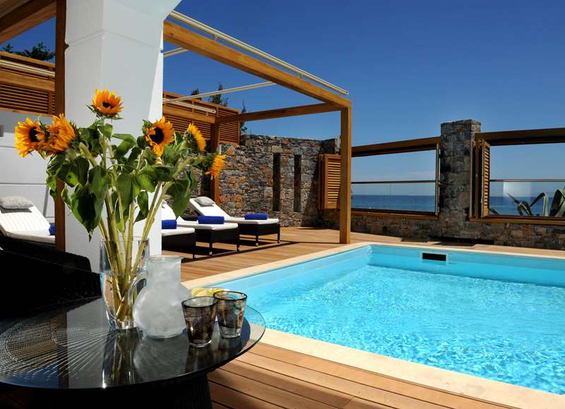 Creta Maris Pool Villa Pool Area