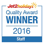 Jet2holidays Quality Award 2016