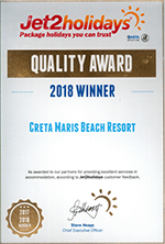 Jet2holidays Quality Award 2018